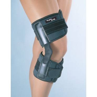 Flexlite Hinged Knee Brace Black Xxl