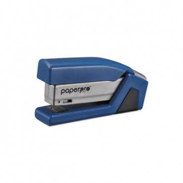 Injoy Spring-powered Compact Stapler, 20-sheet Capacity, Blue