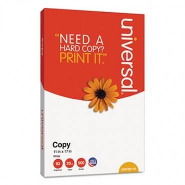 Copy Paper, 92 Bright, 20lb, 11 X 17, White, 500 Sheets/ream, 5 Reams/carton