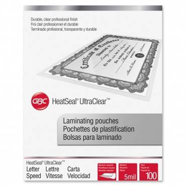 Ultraclear Thermal Laminating Pouches, 5 Mil, 11 1/2 X 9, 100/box
