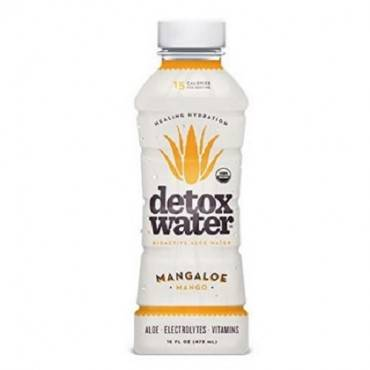 Detox Water Mangaloe Detox Water - Mango - Case Of 12 - 16 Fl Oz.