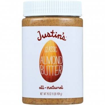 Justin's Nut Butter Almond Butter - Classic - Case Of 6 - 16 Oz.