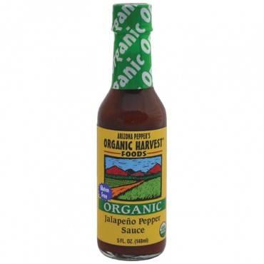 Organic Harvest Pepper Sauce - Organic Jalapeno - Case of 12 - 5 oz.