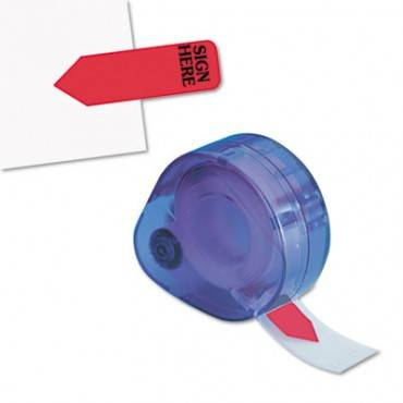 """Arrow Message Page Flags In Dispenser, """"sign Here"""", Red, 120/dispenser"""