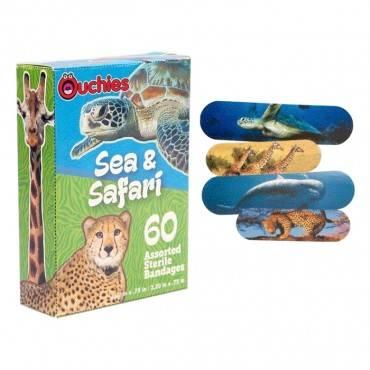 Ouchies Sea And Safari Bandages 60 Ct Part No. Ou-9111-c (60/box)