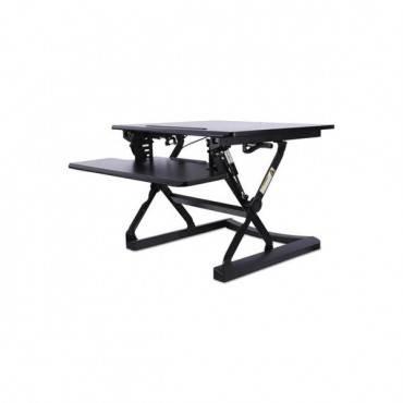 Adaptivergo Sit-stand Lifting Workstation, 26.77w X 31.10d X 19.69h, Black