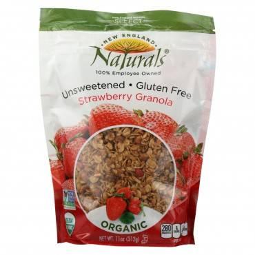 New England Naturals Granola - Organic - Strawberry - Unsweetened - Case of 6 - 11 oz