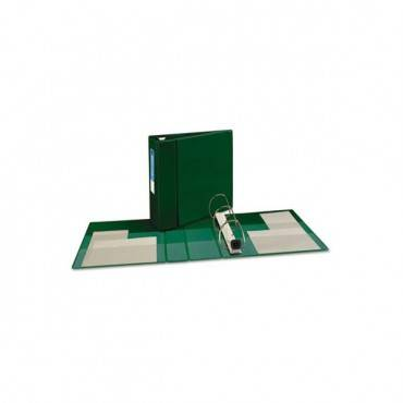"Heavy-duty Non-view Binder With Durahinge And Locking One Touch Ezd Rings, 3 Rings, 4"" Capacity, 11 X 8.5, Green"