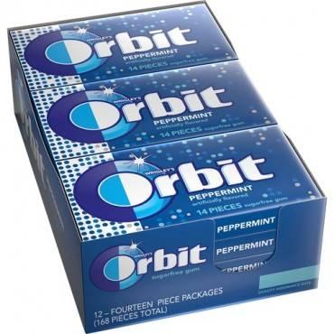 Orbit Peppermint Sugarfree Gum - 12 packs (BX/BOX)