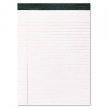 Recycled Legal Pad, Wide/legal Rule, 8.5 X 11, White, 40 Sheets, Dozen