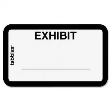 Tabbies Color-coded Legal Exhibit Labels (PK/PACKAGE)
