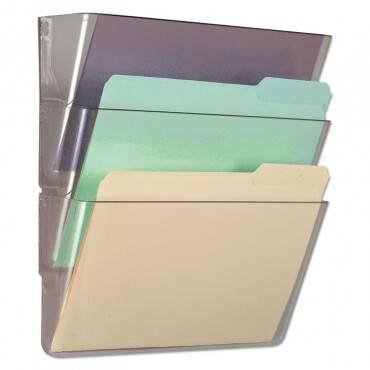 3 Pocket Wall File Starter Set, Letter, Clear