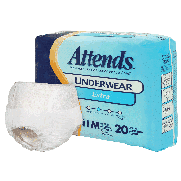 """Attends Adult Extra Absorbency Protective Underwear Large 44"""" - 58"""" (100/Case)"""