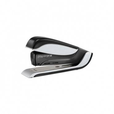 Spring-powered Premium Desktop Stapler, 25-sheet Capacity, Black/silver
