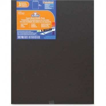 Elmer's 3-pack Black Foam Boards (PK/PACKAGE)