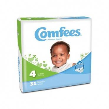 Comfees Baby Diapers - Size 4 (31/Package)