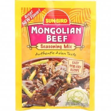 Sunbird Seasoning Mix - Mongolian Beef - 1 Oz - Case Of 24