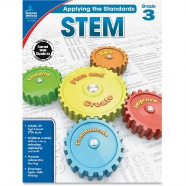 Carson-Dellosa Grade 3 Applying the Standards STEM Workbook Education Printed Book for Science (EA/EACH)