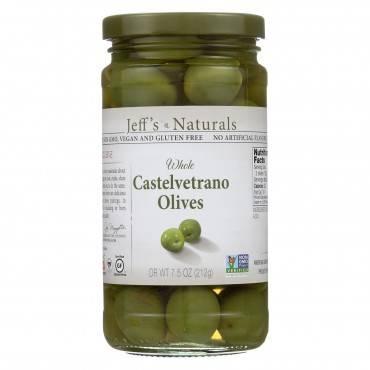 Jeff's Natural Jeff's Natural Castelvetrano Olives - Castelvetrano - Case Of 6 - 7.5 Oz.