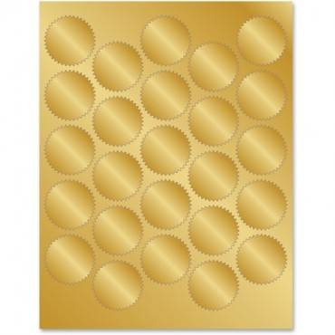 Geographics Gold Foil Seals (PK/PACKAGE)