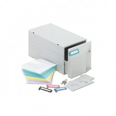 Cd/dvd Storage Drawer, Holds 150 Discs, Light Gray