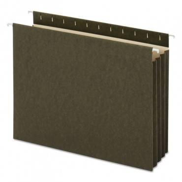 Hanging Box Bottom File Pockets, Letter Size, Standard Green, 10/box
