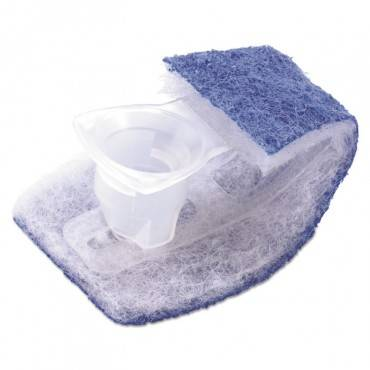 Scotch Brite  Disposable Toilet Scrubber Refill, Blue/white, 6/pack 558RF 6 package