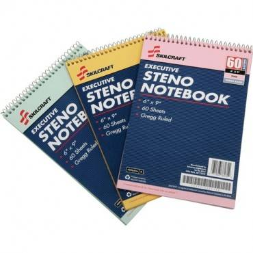 SKILCRAFT Rainbow Executive Steno Notebooks (PK/PACKAGE)