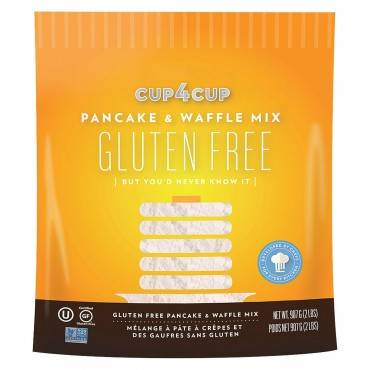 Cup 4 Cup Gluten Free Baking Mix - Pancake & Waffle - Case of 6 - 2 lb.