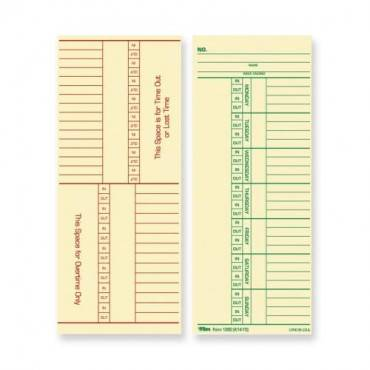 TOPS Named Days/Overtime Time Cards (PK/PACKAGE)