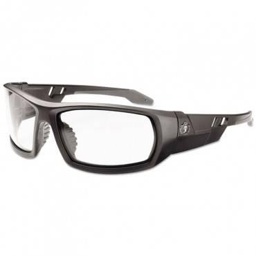 Skullerz Odin Safety Glasses, Matte Black Frame/clear Lens, Nylon/polycarb