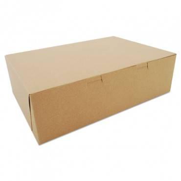 Bakery Boxes, Kraft, Paperboard, 14 X 10 X 4, 100/bundle