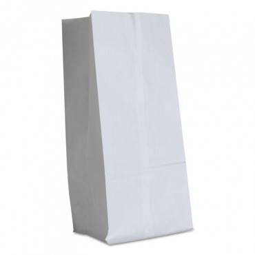"""Grocery Paper Bags, 40 Lbs Capacity, #16, 7.75""""w X 4.81""""d X 16""""h, White, 500 Bags"""