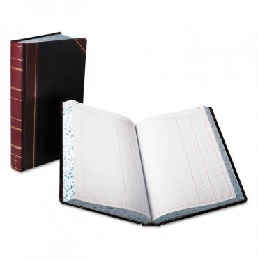 Record/account Book, Journal Rule, Black/red, 500 Pages, 14 1/8 X 8 5/8