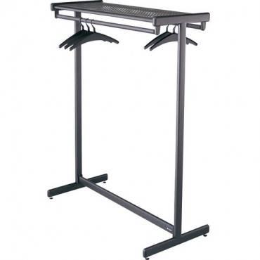 """Quartet® Double-Sided Garment Rack, Freestanding, 48"""", Black (EA/EACH)"""