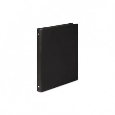 "Accohide Poly Round Ring Binder, 23-pt. Cover, 1/2"" Cap, Black"