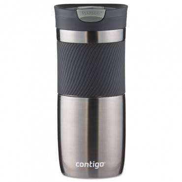 Byron Snapseal Stainless Steel Travel Mug, 16 Oz, Gunmetal