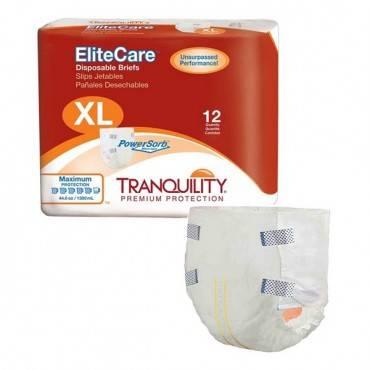 "Tranquility Elite Care Brief, X-large 56"" - 64"" Part No. 2414 (48/case)"