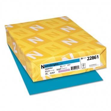 Color Cardstock, 65lb, 8.5 X 11, Celestial Blue, 250/pack