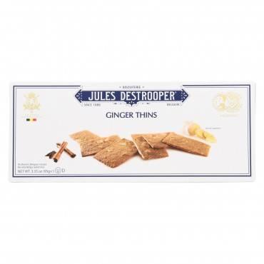 Jules Destrooper - Cookies - Ginger Thins - Case Of 12 - 3.35 Oz.