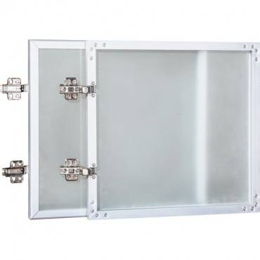 Lorell Wall-Mount Hutch Frosted Glass Door (EA/EACH)
