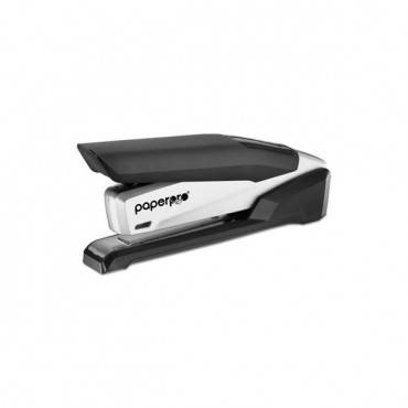 Inpower Spring-powered Premium Desktop Stapler, 28-sheet Capacity, Black/silver