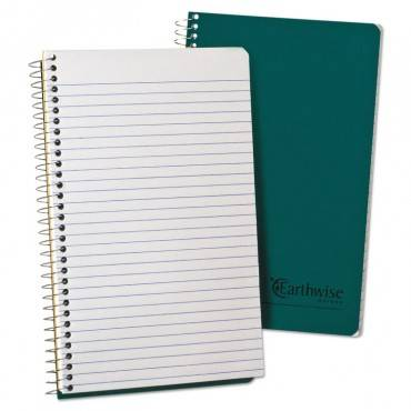 Earthwise By 100% Recycled One-subject Notebook, 1 Subject, Narrow Rule, Green Cover, 8 X 5, 80 Sheets