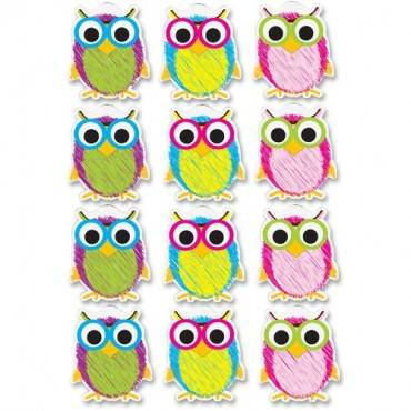 Ashley Scribble Owls Design Dry-erase Magnet (ST/SET)