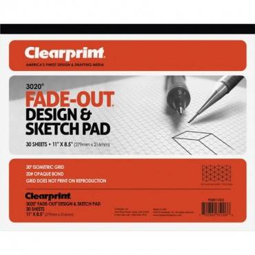 Clearprint Isometric Grid Paper Pad - Letter (EA/EACH)