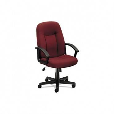 Hvl601 Series Executive High-back Chair, Burgundy Fabric/black Frame
