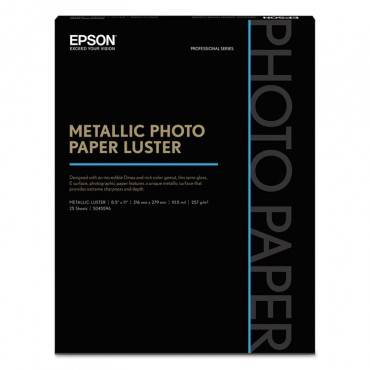 Professional Media Metallic Luster Photo Paper, 10.5 Mil, 8.5 X 11, White, 25/pack