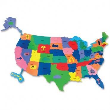 ChenilleKraft Wonderfoam Giant U.S.A Puzzle Map (EA/EACH)