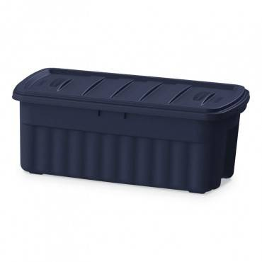 Rubbermaid  ROUGHNECK STORAGE BOX, 21 1/5W X 43D X 17 7/8H, DARK INDIGO METALLIC RMRT500000 1 Each