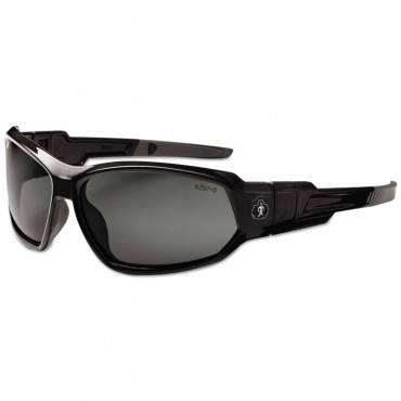 Skullerz Loki Safety Glass/goggle, Black Frme/smoke Lns, Antifog, Nylon/polycarb